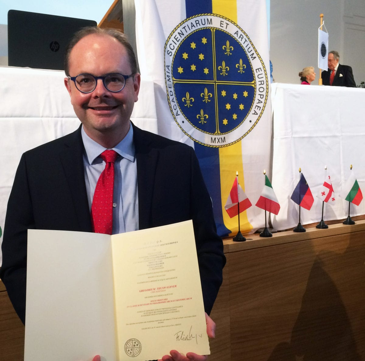 Dr. Gregor Thuswaldner Inaugurated into the European Academy of Sciences and Arts
