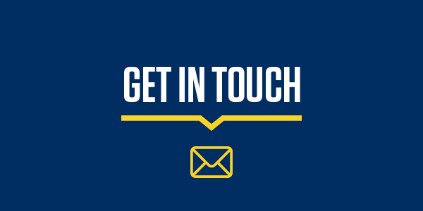 "Icon with text ""Get in Touch"""