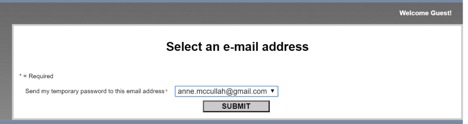 Select an e-mail address