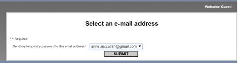 Select an e-mail address