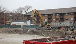 Johnson Center construction in January 2013.
