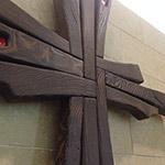 The prayer room cross in the Johnson Center