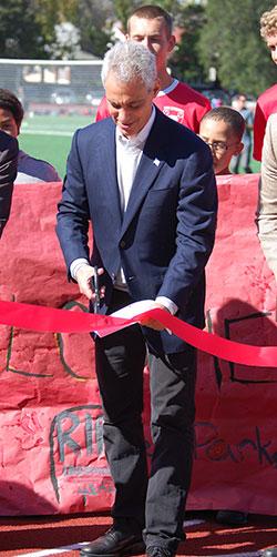Mayor Rahm Emanuel at River Park Ribbon Cutting Ceremony