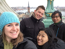 Amanda Detchman and friends in Sweden