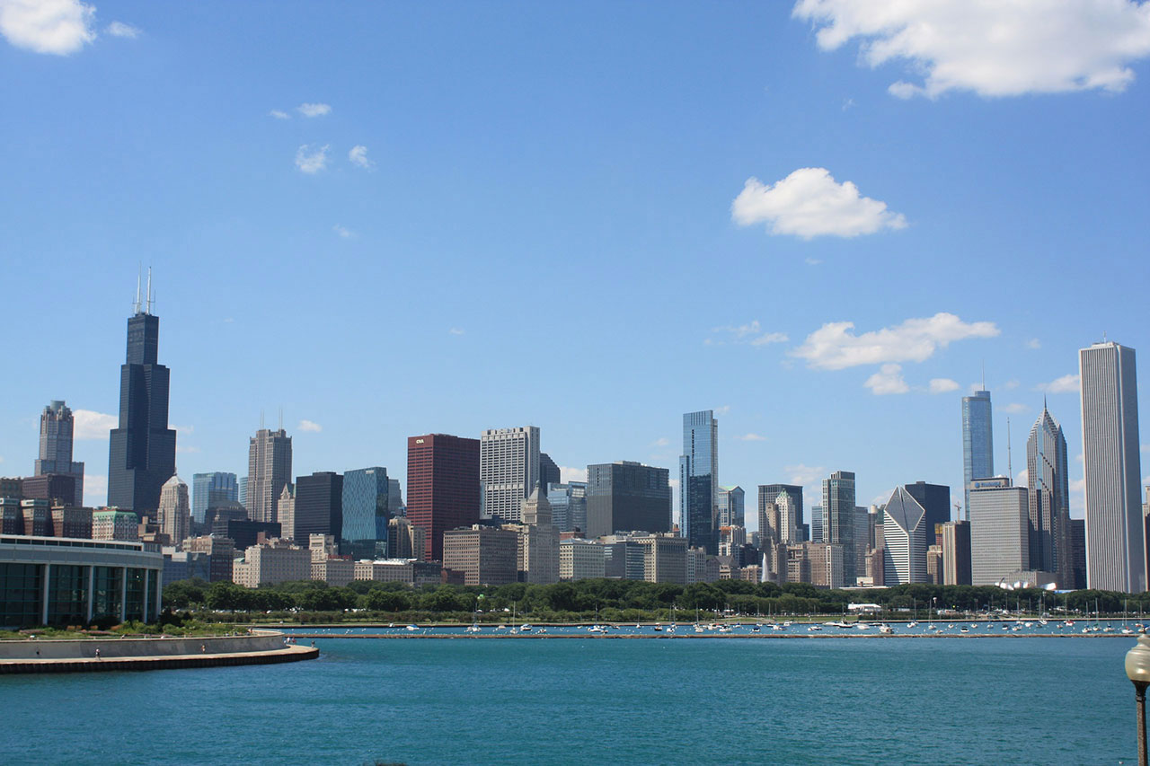 View of the Chicago Skyline - Location of the School of Business and Nonprofit Management at North Park University