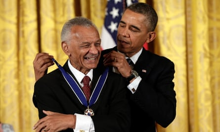 Reverend Doctor Cordy Tindell Vivian receives the Presidential Medal of Freedom from President Obama.