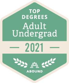 Top Degrees, Adult Undergrad, 2021