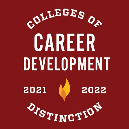 Colleges of Distinction, Career Development, 2021–2022
